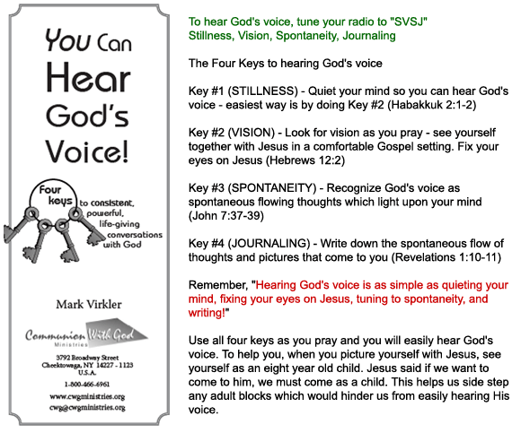 4 keys to hear God's voice